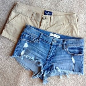 2 for 1 shorts! 🌀 Size 2 by AE and A&F 🌀 EUC! 🌀